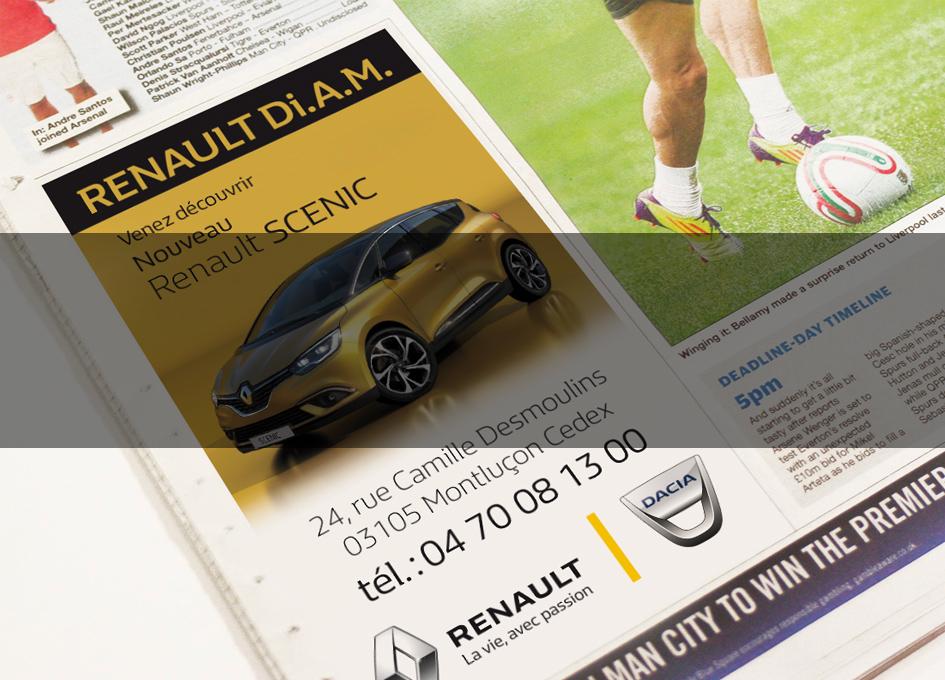 projet publicité Renault Di.A.M.