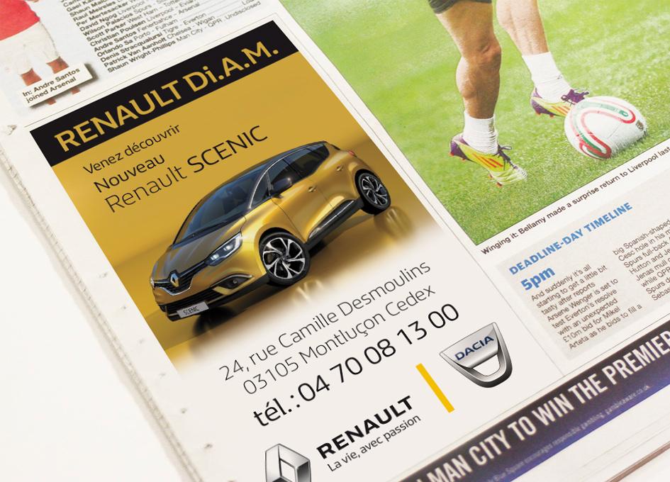 publicité presse pour Renault Di.A.M.