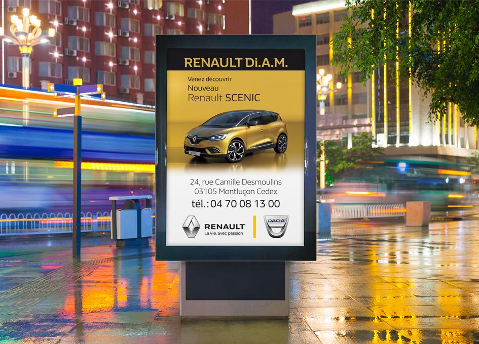 publicité affichage pour Renault Di.A.M.