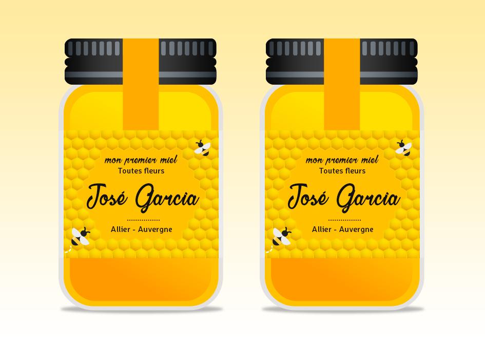 étiquette pot de miel J. Garcia