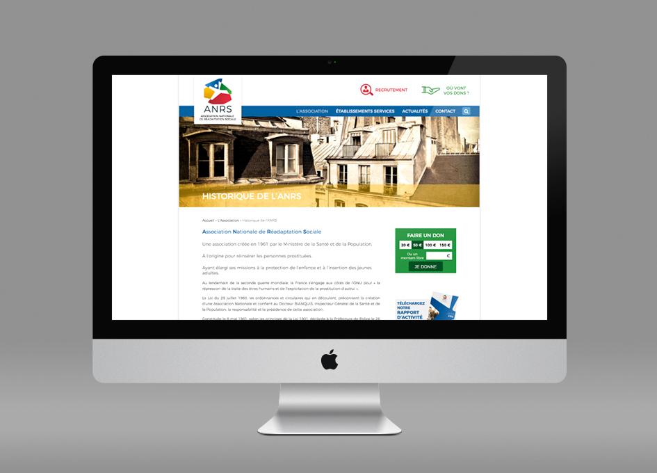 Webdesign www.Anrs.asso.fr - page Historique