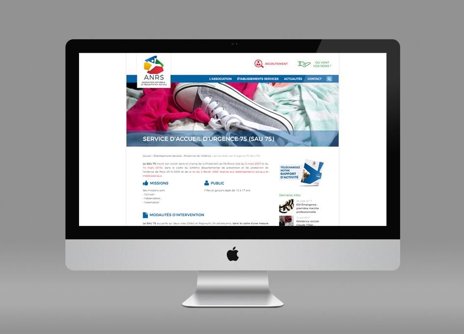 Webdesign www.Anrs.asso.fr - page Établissement