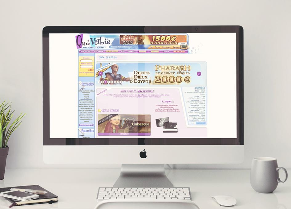 Site internet Quoverbis.com - page Jeux Gratuits