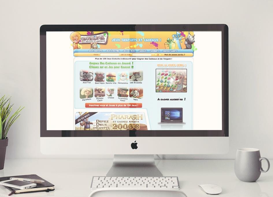 Site internet Cadovillage.com - page Jeux Gratuits