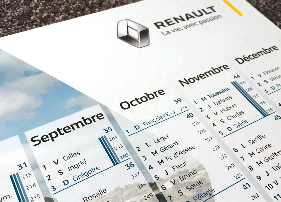 calendrier Renault